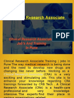 Clinical Research Associate Training | Jobs In Pune