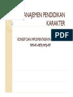 Manajemen Pendidikan Karakter