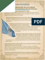 Interpretación de Los Versos Del Himno Nacional de Guatemala
