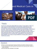 disease and medical care