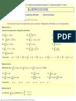 Ejercicios cálculo integral definida