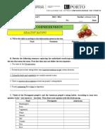 Reading Comprehension Worksheet Healthy Living