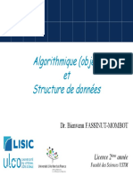 COURSAlgorithmique Et Structure de Donnees USTM