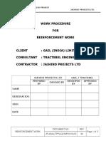 Reinforcement Work Proc.