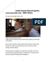 Algerian Novelist Kamel Daoud Sparks Islamophobia Row