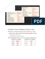 notes - vocab 2   imperfect