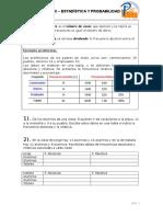 Ejercicios Probabilidad 6 primaria