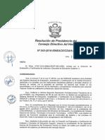 Resoluci+¦n N-¦043-2016-SINEACE-CDAH-P
