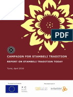 Campaign for Stambeli Tradition Report on Stambeli Tradition Today