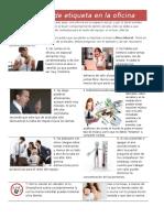 20 Reglas de Etiqueta en La Oficina
