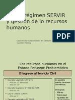 Nuevo Régimen SERVIR y Gestión de Lo Recursos Humanos