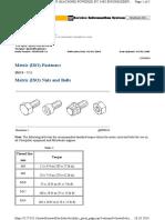 Metric (ISO) Fastener