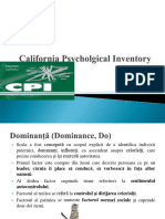 Scalele California Psycholgical Inventory (1)