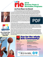 City of Erie 2016 Summer Parks & Recreation Guide
