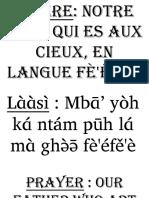 Notre Pere Qui Est Au Cieux Nufi Language