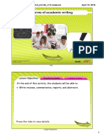 forms of academic writing smartboard lesson