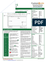 Microsoft Excel 2016 Quick Reference Card - 2016 CustomGuide