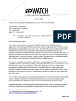 Letter Opposing Arbitration in Insurance Policies
