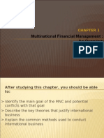 Chapter 1 - Multinational Financial Management