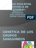 GENETICA DE LOS GRUPOS SANGUINEOS.pptx