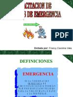 Capacitacion Brigadas de Emergencias Evacuacion