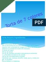 Torta de 7 colores (Lichin)