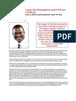 Bond Tax Exemption Nigeria July 2012