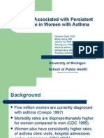 Factors Associated With Persistent Disease in Women With Asthma