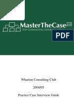 Wharton 2005 Management Consulting Casebook