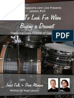What to Look for When Buying a Drum Set