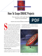 Scope LSS DMAIC Projects