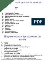 Etapele Redactarii Protocolului de Studiu