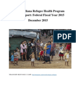 State of Indiana Refugee Health Program Annual Report 2015
