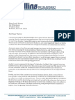 Gallina Letter to Mayor Warren on Casino