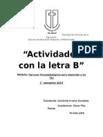 Actividades con la letra B