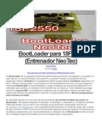 BootLoader Para 18F2550 (Entrenador NeoTeo)