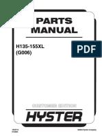 Manual peças Hyster 135-155 Xl