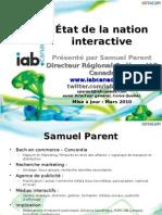 IAB Canada - présentation à Intracom 2010