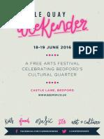 Castle Quay Weekender 2016 programme