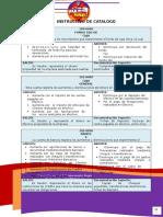Instructivo Catalogo de cuentas