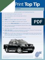 INF121 04 BP TIP Navara Fuel Pump ECU Reset