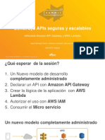 2016 AWS Summit Bogota - Construya API's Seguras y escalables