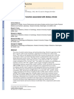 Cardiorespiratory Function Associated With Dietary Nitrate Supplementatio