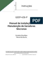 GEEP-436-P. Manual de Instalação e Manutenção de Geradores Síncronos