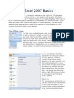 Microsoft Excel 2007 Basics-1