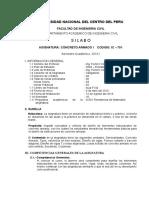 Silabo Concreto Armado i -2016-i - Uncp
