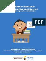 Documento Orientador Foro Educativo 2016