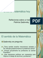 Ppt Sobre Enseñar Matematica Hoy Sadovsky