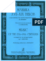 Music of the 17th - 19th Centuries Arranged for Six-stringed Guitar