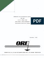 Sub-bottom Profiler ORE Model 1036